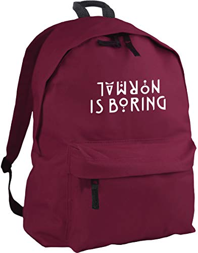 HippoWarehouse Normal is Boring backpack ruck sack Dimensions: 31 x 42 x 21 cm Capacity: 18 litres