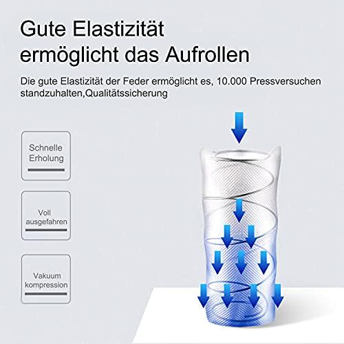Queenross Colchón de muelles independiente, zona de confort ergonómica, simple y elegante, bueno para la salud (80 x 190 cm).