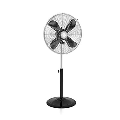 Swan SFA12610BN, Retro 16 Inch Stand Fan with Metal Blades, Oscillation and Tilt Function, 3 Speed Settings, Low Noise, Black