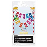 Unique Party 49578 - Rainbow Birthday Cake Bunting Topper