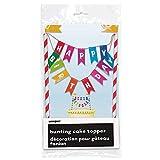 Rainbow Birthday Pinata mit Zugschnur Tortenaufsatz 8'H x 6'w mehrfarbig