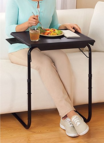 5starsuperdeal Portable and Foldable Tray Table (Black)