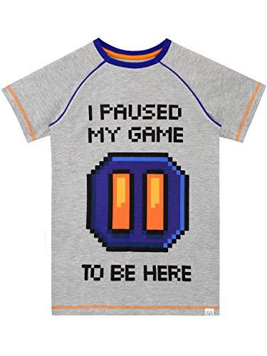 Harry Bear Camiseta de Manga Corta para niños Videojuegos Gris 9-10 Años