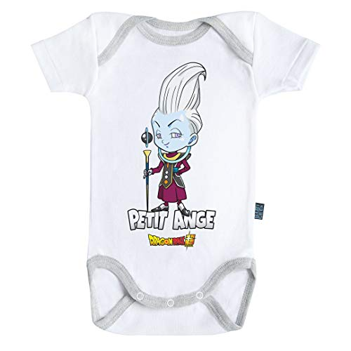 Baby Geek Petit Ange - Whis - Dragon Ball Super ™ - Licence Officielle - Body Bébé Manches Courtes (3-6 Mois)