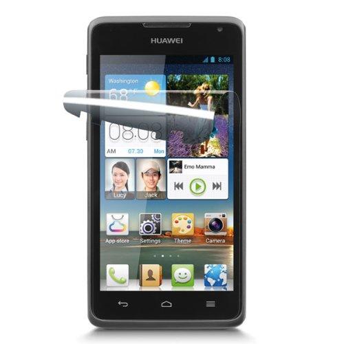 Cellular Line SPASCY530 Bildschirmschutzfolie für Huawei Ascend Y530 inkl. Microfasertuch & Staubentferner (2-er Pack) transparent
