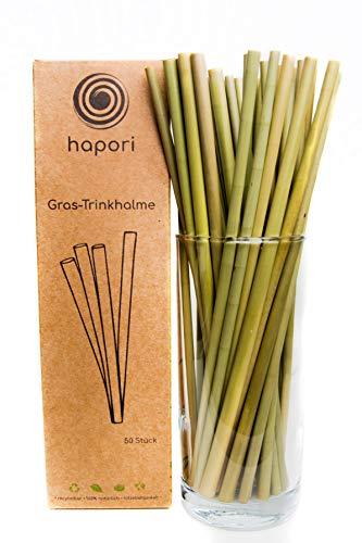 hapori Gras-Trinkhalme — umweltfreundlich   nachhaltig   100% natürlich   kompostierbar   wiederverwendbar   DIE plastikfreie Alternative (50)