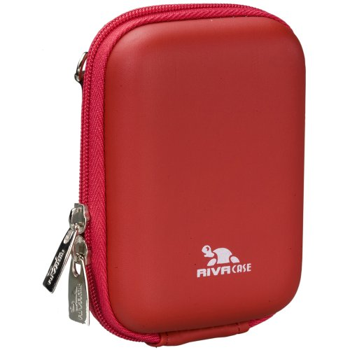 RivaHülle®  7023 (PU) Kameratasche (Hardcase - Hartschale) rot