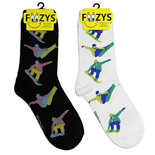 Foozys damen Mannschaftssocken   fun cool sports themed mode neuheit socken snowboarder