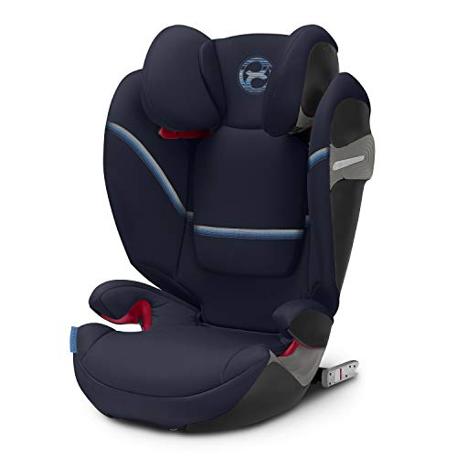 CYBEX Gold Kinder-Autositz Solution S-Fix, Für Autos mit und ohne ISOFIX, Gruppe 2/3 (15-36 kg), Ab ca. 3 bis ca. 12 Jahre, Navy Blue