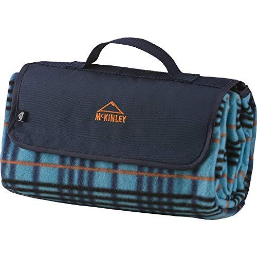 McKINLEY Picknickdecke Rug Fleece, blau/blau/orange,1
