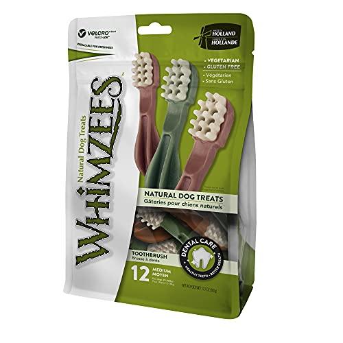 Estrella Whimzees, para cepillos de dientes, tamaño mediano, 12 piezas 🔥