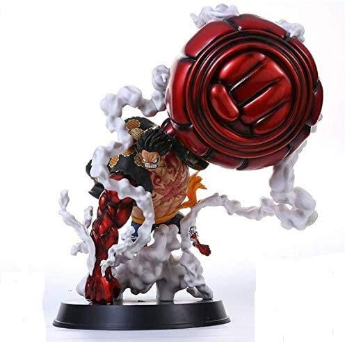 KIACIYA One Piece Figurine Luffy Gear 4 Kong Gun Nouvelle Figurine Wano Kuni Anime Monkey D Luffy Figure 31cm-New World-Figurine Décoration Ornements Collectibles Animations Toy Character Model (1)
