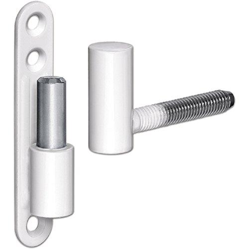 SECOTEC Universal-Tür-Möbel-Band 15 mm weiß, hochwertiges Universalband weiß