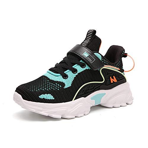Niños Niñas Zapatillas de Correr Transpirables Zapatos para Caminar al Aire Libre Zapatillas de Tenis Azul EU 33