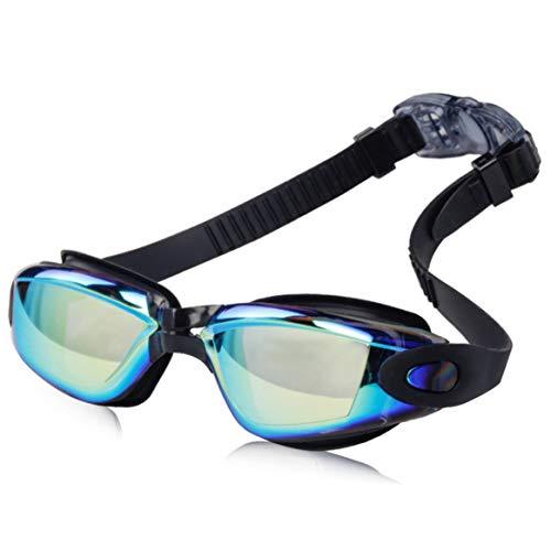 Kongqiabona-UK Gafas de natación Impermeables para Adultos antivaho Transparentes antivaho Impermeables Gafas de natación HD de galvanoplastia Coloridas