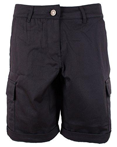 NOROZE Damen Frauen Baumwoll 3/4 Chino Shorts Kurze Hosen