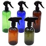Botella Pulverizadora de 500 ml,Tianher 5 Piezas Botellas de Spray Vacías de Plástico Pulverizador Agua de Gatillo Bote Pulverizador para Plantas Limpieza Cocina Aerosol para Regar Jardín.