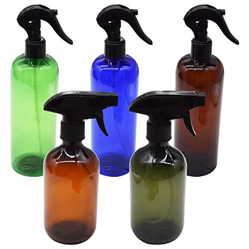 Botella Pulverizadora de 500 ml,Tianher 5 Piezas Botellas de Spray Vacías de Plástico Pulverizador...