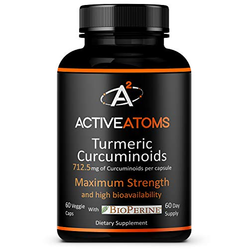 Active Atoms Turmeric Extract w/ Bioperine® - Extra Strength – Optimal Dose of Turmeric w/ Black Pepper to Fight Inflammation – 2 Month Supply