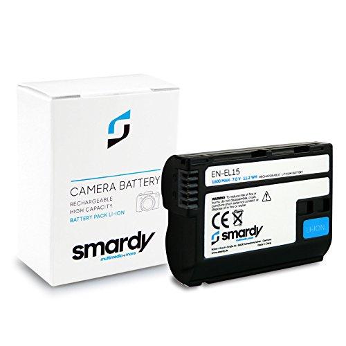smardy Bateria EN-EL15 Compatible con Nikon 1 V1 D800 D810 D7000 D7100 D7200