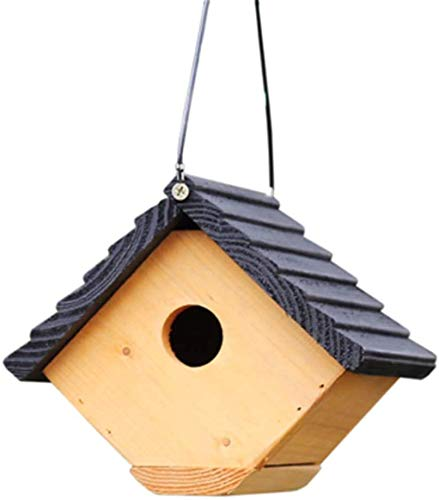 Oiseaux Nids for Cages Creative Motel Forme Outdoor Hanging Décoration Retro Steeple Bois Birdhouse Anglais Courtyard Garden Cottages Bird House for Les Petites Oiseaux Cabin Birdhouse