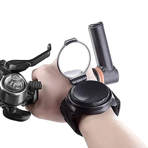 Guyuan Fahrradspiegel, Handgelenkspiegel, Fahrrad-Rückspiegel, klappbar, 360 Grad verstellbar, mit elastischem Armband, tragbares Fahrrad-Zubehör für Radfahrer, Mountainbike, Rennrad, Radfahren