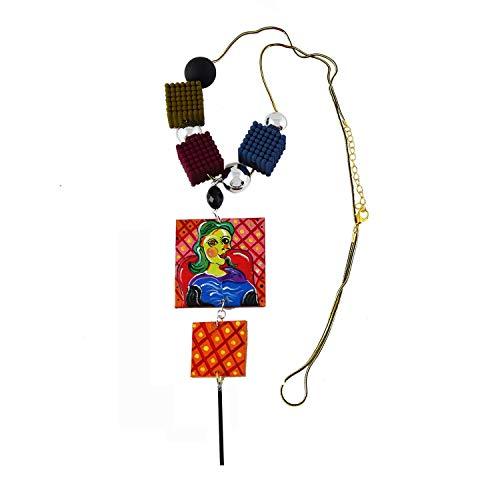 Collana pendente dipinta a mano - Ritratto di Dora Maar di Picasso