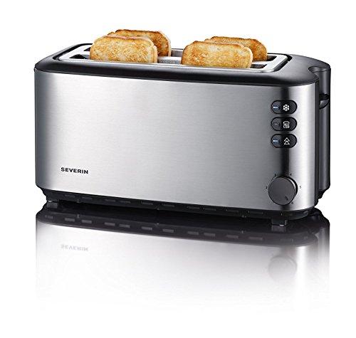Severin AT 2509 Automatik-Toaster (1400 Watt, bis zu 4 Brotscheiben) Edelstahl (Generalüberholt)