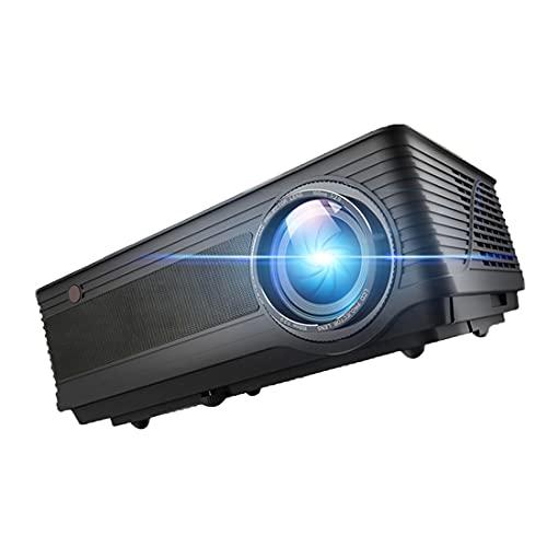 ZEMENG Proyector de Video HD Completo de 1920 x 1080P Proyector de Video Full HD,OOM, Proyector de Hogar y Outdoor Compatible, Teatro en el hogar con Interfaz AV de TV USB HDMI y Control Remot