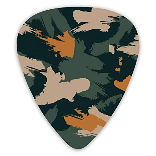 Camouflage Guitar Picks 12-pack Guitar Plectrums for Electric Guitar, Acoustic Guitar Mandolin And Bass