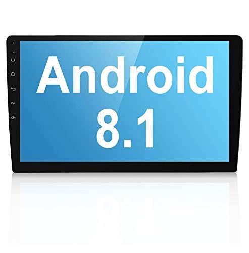 Liehuzhekej Android 8.1 Double Din Car AM Radio Receiver, 10.1 Zoll 2.5D Gebogen HD Touchscreen Auto Radio Head Unit, Unterstützung GPS Bluetooth Radio Android &IOS Mirror Link Dual USB/Subwoofer