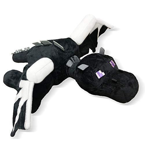 Ender Dragon Plush Toy Doll, Black Dragon Stuffed Plush Toy, Plush Toy New Year Christmas and Birthday Gifts 24.1 inch