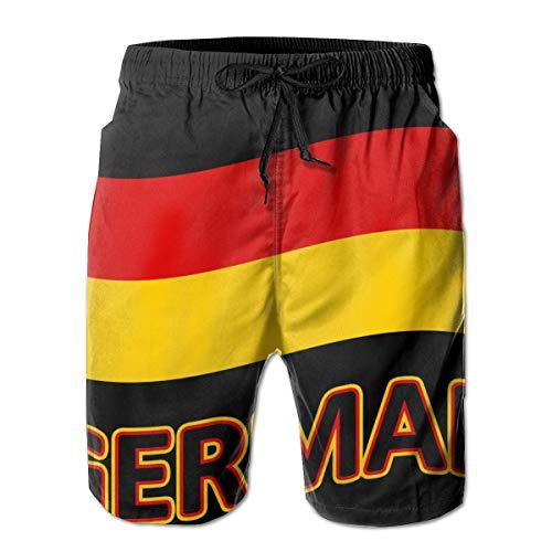90ioup Deutschland Flagge Herren Strand Surf Shorts Badehose Kurze Hose Gr. XXL, weiß