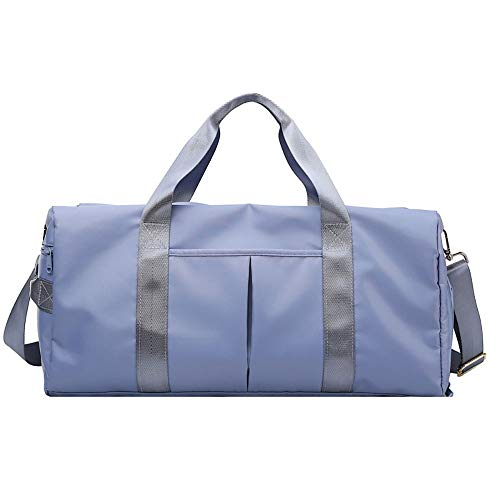 Allibuy Gym Bag Duffle Bag Gym Duffle Bag, With Shoe Compartment And Wet Pocket For Women Swim Sports Travel Gym Bag Sports Bag Training Handbag Men Women (Color : Blue, Size : 49x25x22cm)
