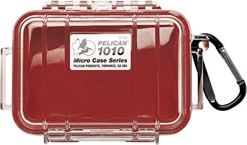 Pelican Products 1015-008-100 Pelican 1015-008-100 Micro Case mit transparentem Deckel rot