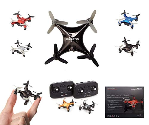 Propel Proton Mini Pocket Drone | Advanced Remote Control RC Micro Quadcopter | Long-Range (100+M) Nano Toy Helicopter | Beginner to Advanced Pilots Micro Drone | Age 10 and Up| Assorted Colors