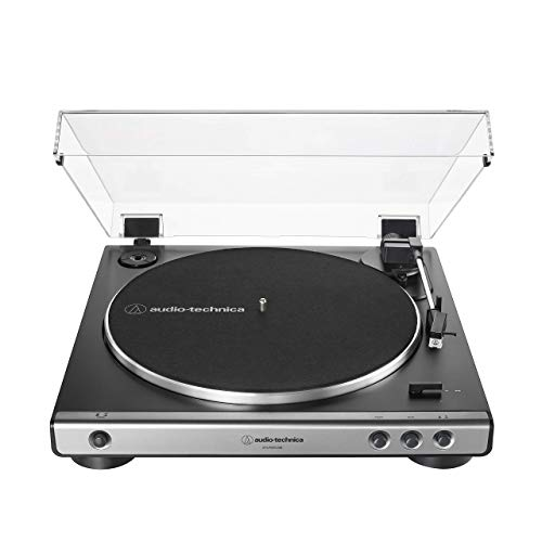 Audio-Technica at-LP60XUSB-GM Fully Automatic Belt-Drive Stereo Turntable (Analog & USB), Gunmetal, Hi-Fidelity, Plays 33 -1/3 and 45 RPM Records, Convert Vinyl to Digital (Renewed)