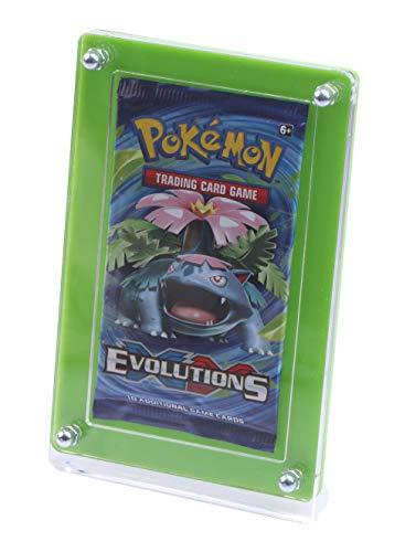 Pokemon Yugioh - Expositor de coleccionista con parte trasera verde para cartas coleccionables de TCG Ninjango Fortnite