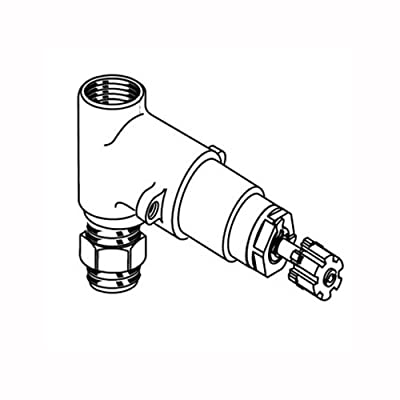 American Standard Rough On/Off Volume Control Valves, Inlet/Outlet (Handle Not Included)