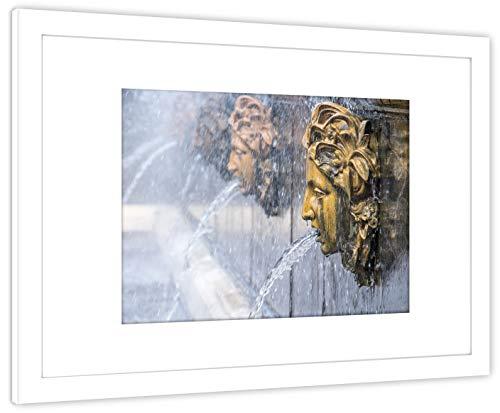 GaviaStore Art Prints - Peterhof B - con Marco 70x50 cm - Cuadros Impresiones Pintura Cartel Foto Mueble hogar impresión decoración casa Sala Poster Cuadro Imagen Enmarcado Wall Picture