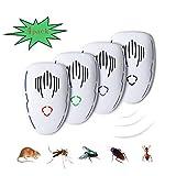 Repellente ultrasuoni Insetti, ultrasuoni per Topi all'Interno e Sonic Repeller Plug, Repe...