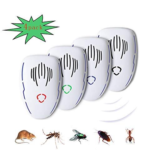 Repellente ultrasuoni Insetti, ultrasuoni per Topi all'Interno e Sonic Repeller Plug, Repellente per zanzare, ratti, blatte, scarafaggi, Ragni, Mosche, Termite Bianco