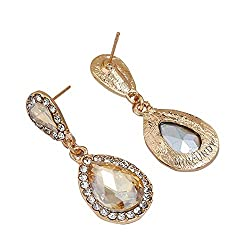 Rhinestone-Studded Teardrop Artificial Crystal with Bling Stone