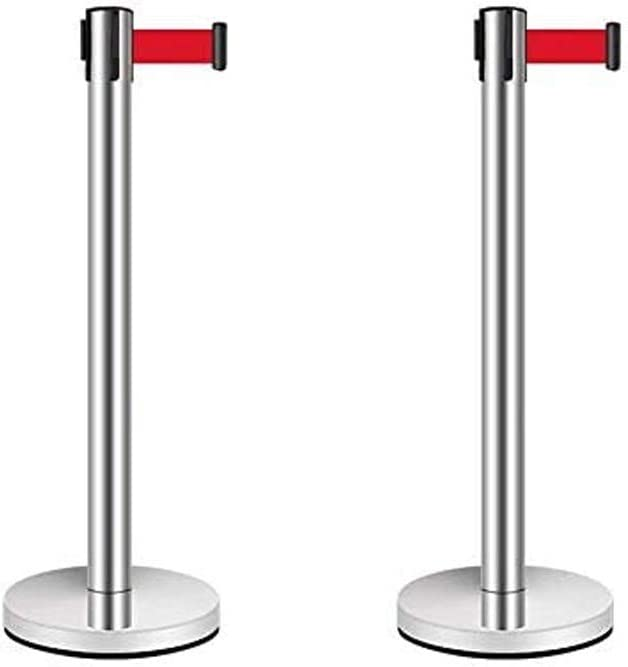 Hemore Popular products Max 64% OFF 2pcs Crowd Control Barriers Fa Tail for Stanchion Barrier