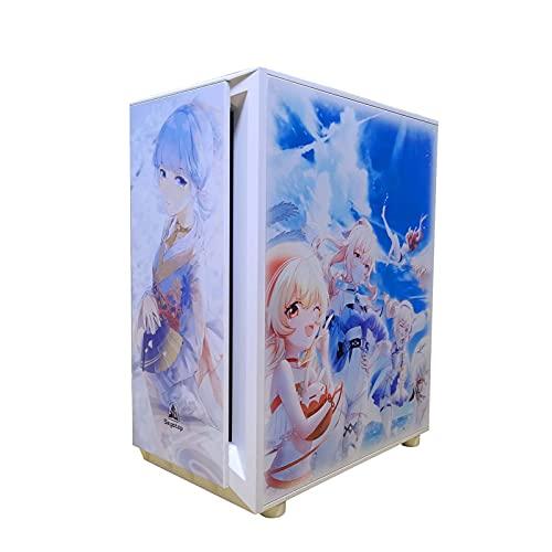 BBNB Caso De Juego, Mid - Torre Ordenador Personal Caja De Juegos ATX/M-ATX/ITX - Parte Delantera E/S USB 3.0 Panel Lateral De Vidrio Templado De Puerto - 8 Posición del Ventilador