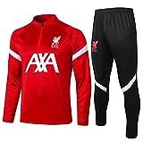 European England Men's Football Club Fútbol De Fútbol De Manga Larga Ropa Deportiva Chaqueta Roja Uniforme De Entrenamiento (Chaqueta + Pantalones) -pol-b1572(Size:Extragrande,Color:Rojo)