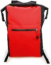MyGadget Bolsa Estanca 25L - Bolsa Impermeable - Dry Bag Protección Waterproof Mochila para Viajes y Deportes cómo Kayak, Surf - Rojo