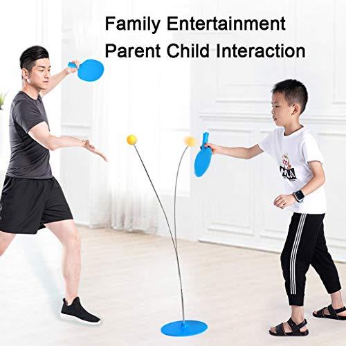 ZHUYILONG Indoor Outdoor Tischtennistraining for Kindersportstudio en casa Family Entertainment Einzeltischtennis Trainer Trainingsgeräte Kit, azul
