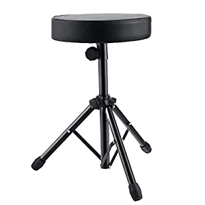 Coocheer Universal Drum Throne Stool Upgraded,Padded Drum Seat Rotatable Height Adjustable drumming Stools for Kids and Adult