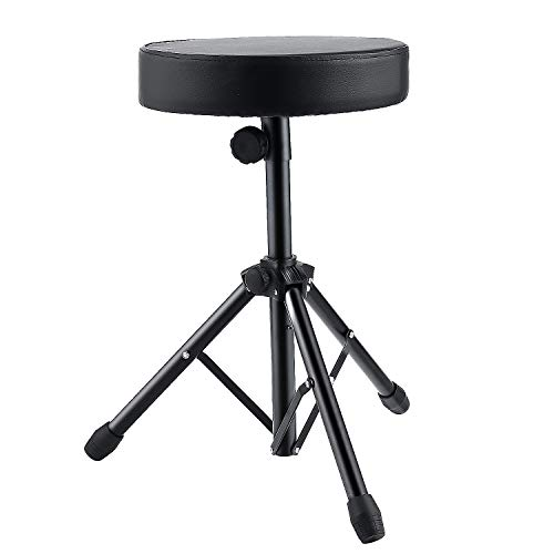 Coocheer Universal Drum Throne Stool Upgraded,Padded Drum Seat Rotatable drumming Stools for Kids and Adult